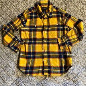 GAP Boy's Size S (6/7) Flannel Button Down Shirt